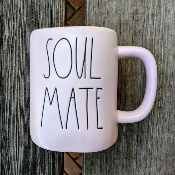 "RAE DUNN ""Soul Mate"" Ceramic Coffee Mug NWT"